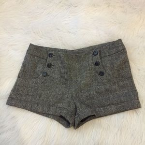Forever 21 Size M Tweed Shorts Double Button